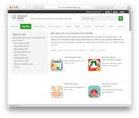 Common Sense Media Apps Site
